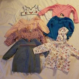 Girls 12 months Bundle of Long Sleeve Shirts